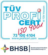 Logo TÜV Profi ISO9001 und BHSB